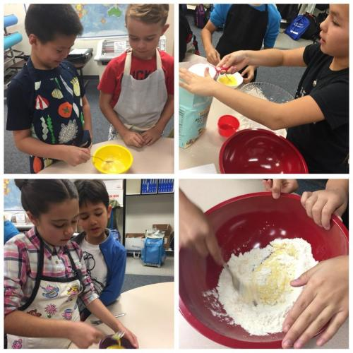 Children making pasta dough 1